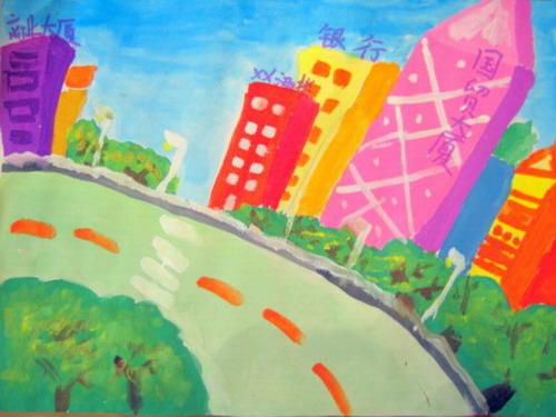 到处都洋溢着城市的进步与繁荣,我们要用画笔画出可爱的家乡,欢迎更多