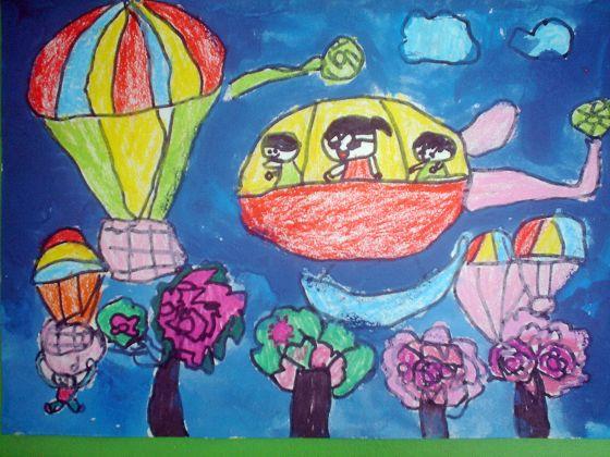 快乐涂鸦手印海底世界
