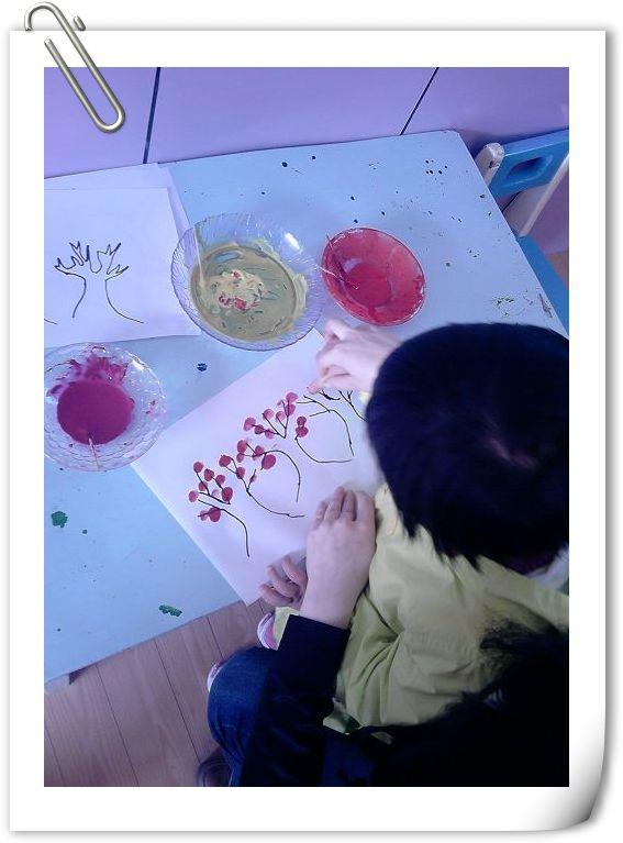 幼儿园宣纸印染画步骤图