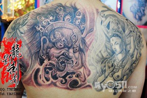镇江纹身13327743446 龙影纹身作品 激光洗纹身 洗眉图片