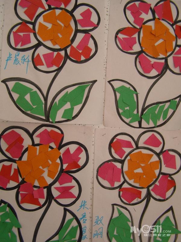 的手工课 新增颜料画 金蓓蕾 溪园幼儿园