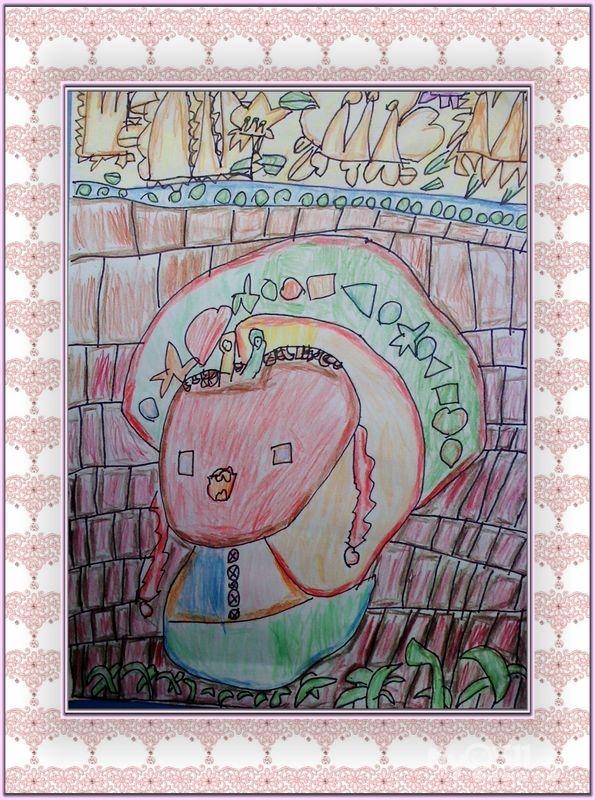 美工区进区规则简笔画-幼儿园美工区规则-美工区区域规则-幼儿园美工