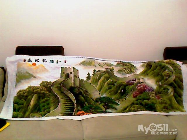 本图取于巨幅长城国画《盛世中华》,大小为:196cm*85cm,裱高清图片
