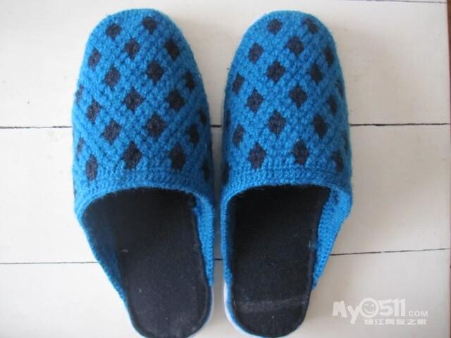 双毛线棉鞋花样图案 双毛线棉鞋编织图案