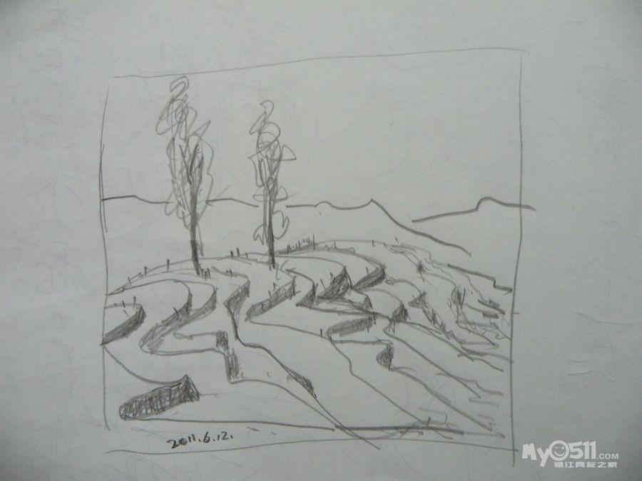 七龙珠孙悟空素描简笔画