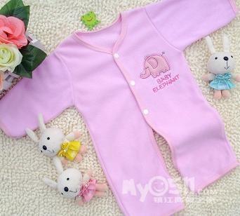 手工编织婴儿连体衣图解