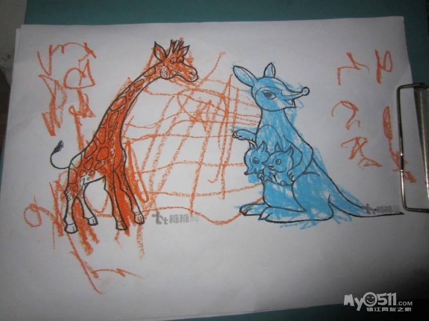 儿童涂色画打印 a4
