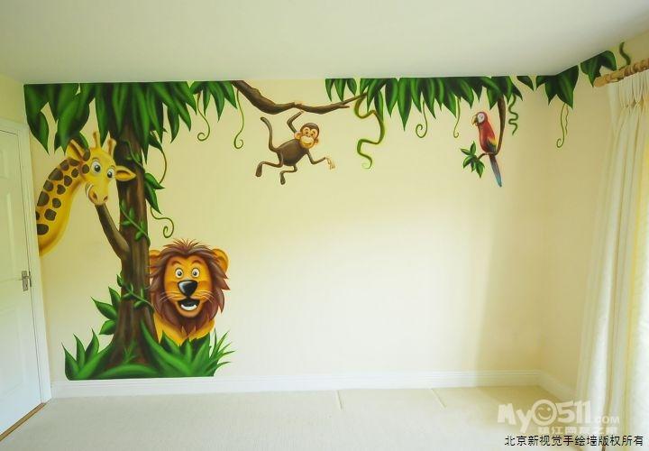 儿童房墙绘素材太空