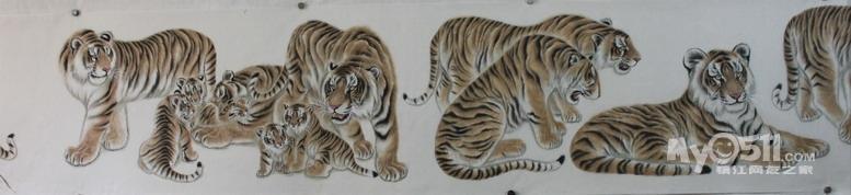 写实老虎雕塑图片