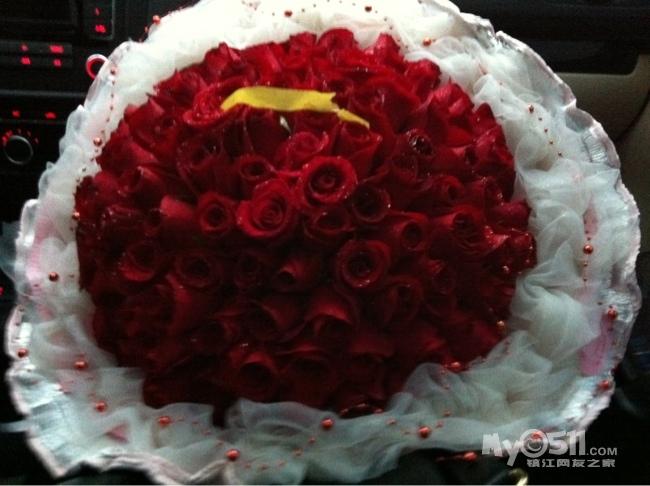 用老公求婚那天玫瑰自制立体画一枚
