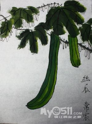 植物装饰色彩画