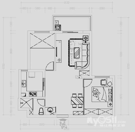 房子框架结构图立体