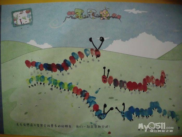 有创意的手指点画图片-手指印画大树创意图片|儿童画
