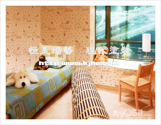 新潮电视背景墙 墙体艺术漆 墙面彩绘 墙面工装 尽在恒美墙艺工作室