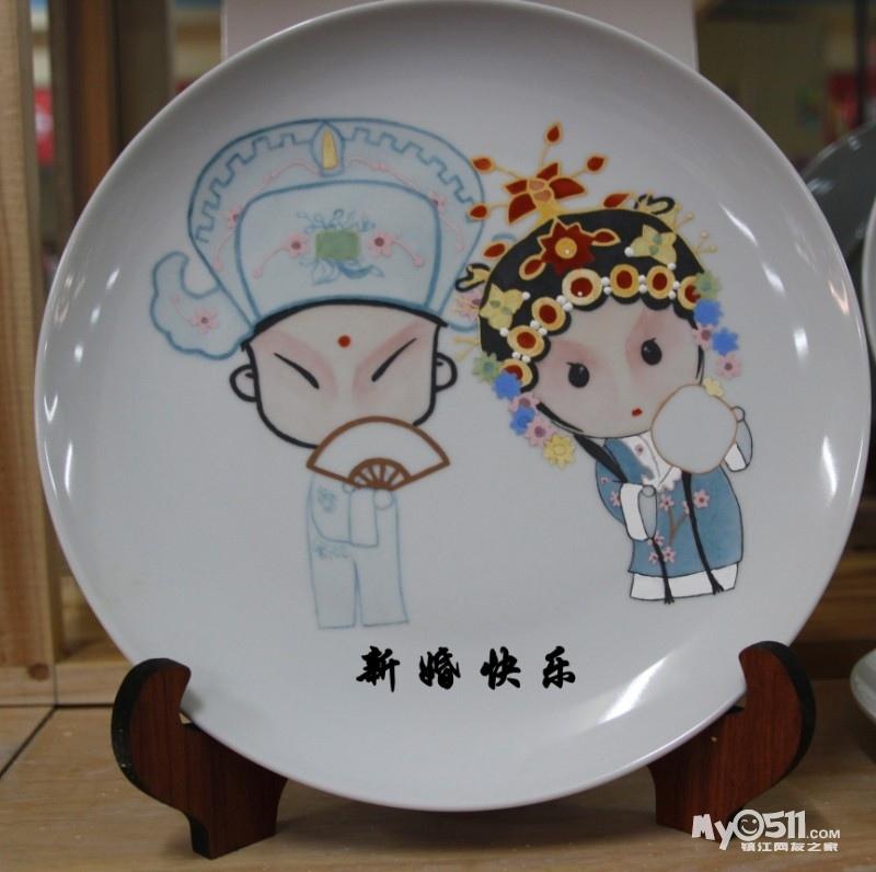 卡通京剧小人!在盘子上写上祝福语和名字,与众不同且独一无二,