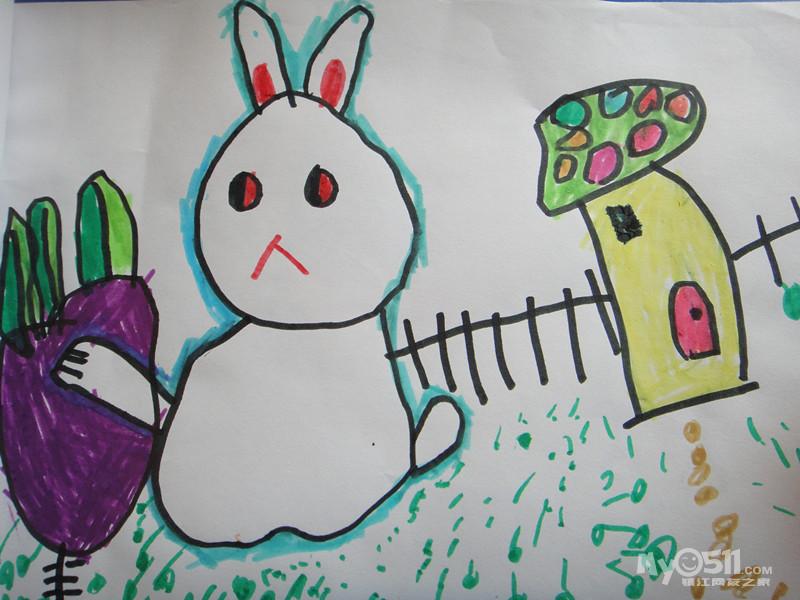 小兔子拔萝卜
