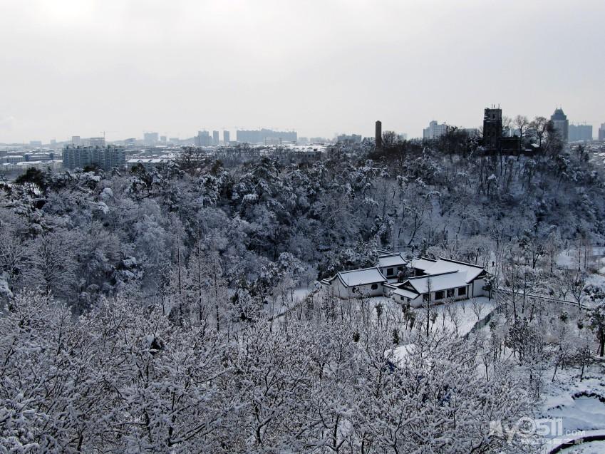 马上到宝塔山踏雪寻梅