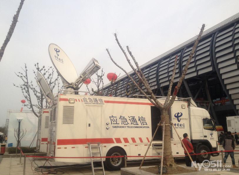 镇江电信卫星应急通信车