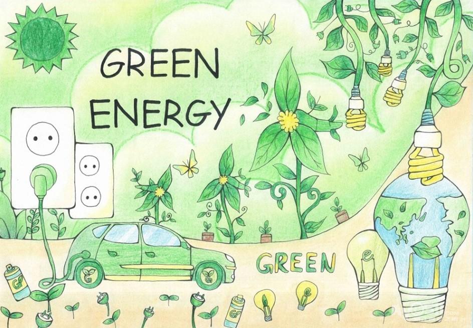 儿童画植树节图片儿童画保护环境植树节关于植树