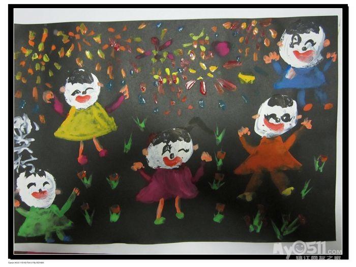 儿童主题范画水粉