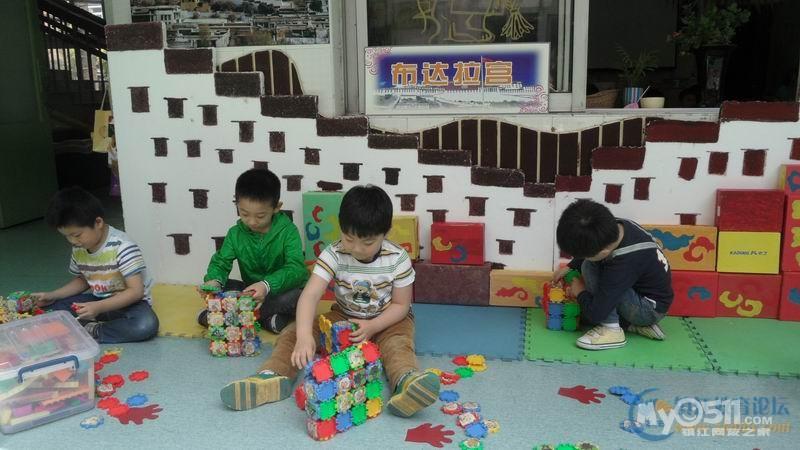 幼儿园建构区鞋盒墙面布置图片