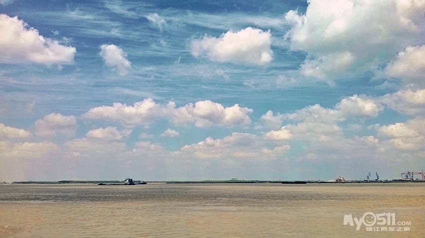 保护江豚————初骑江心洲手机中的风景