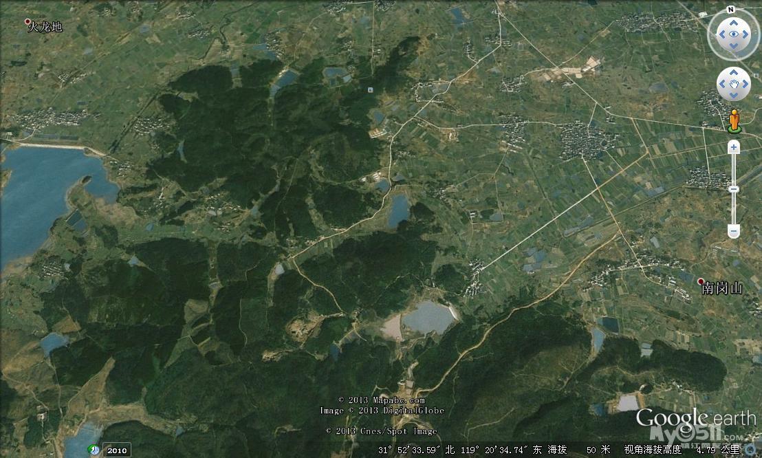 荣炳山地卫星地图