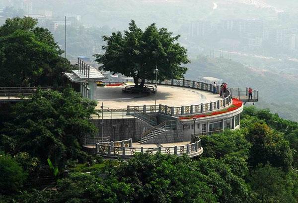 重庆南山风景区位于长江南岸