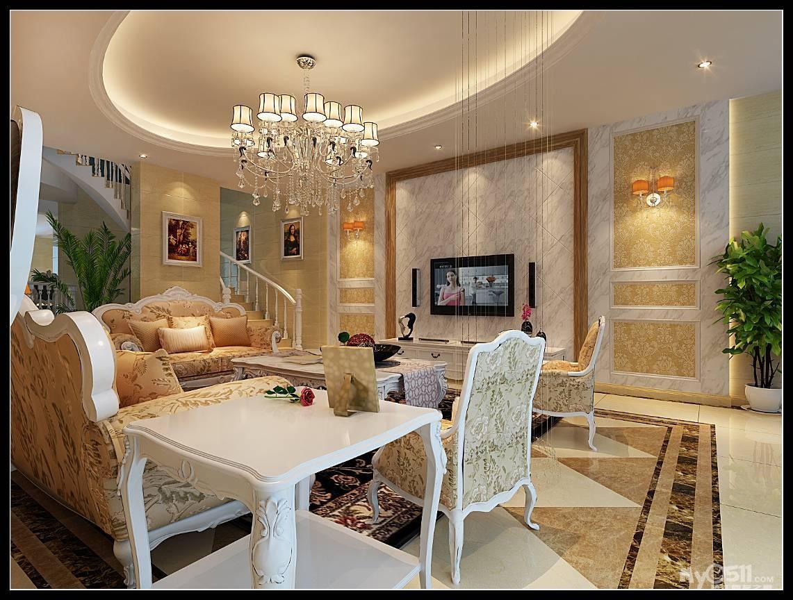 明堂水路充足:通透宽大的客厅,全明采光的厨房,欧式特点的家具和墙面