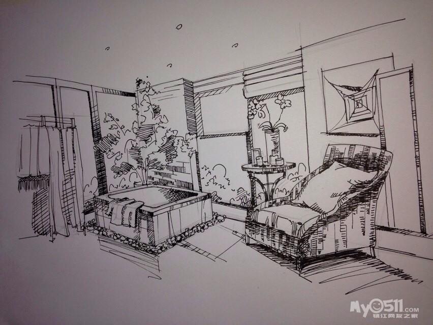 女儿室内设计手稿 - 镇江市美术家协会