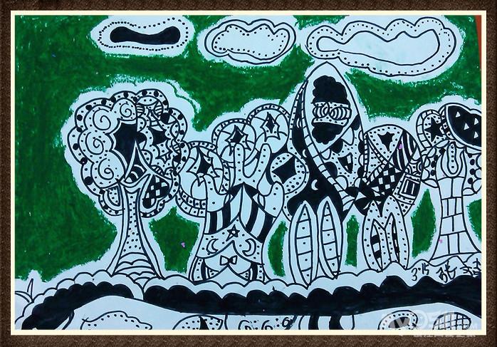 2014春季 线描班 第四课《小树林》(3,15)