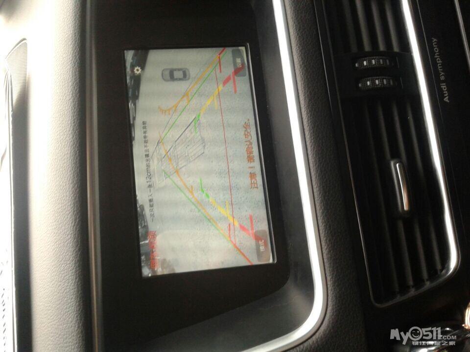 奥迪Q5加装高清导航,带倒车轨迹高清图片