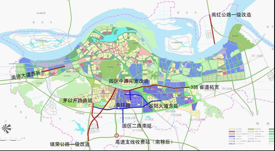 镇江梦溪广场地图手绘