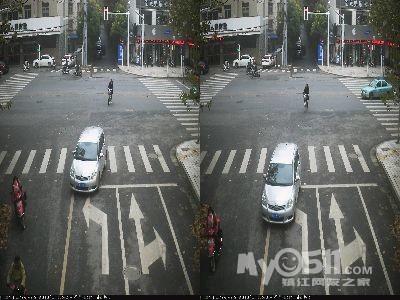 前方红绿灯路口有导向线