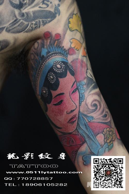 黑白花旦纹身图案大全展示图片