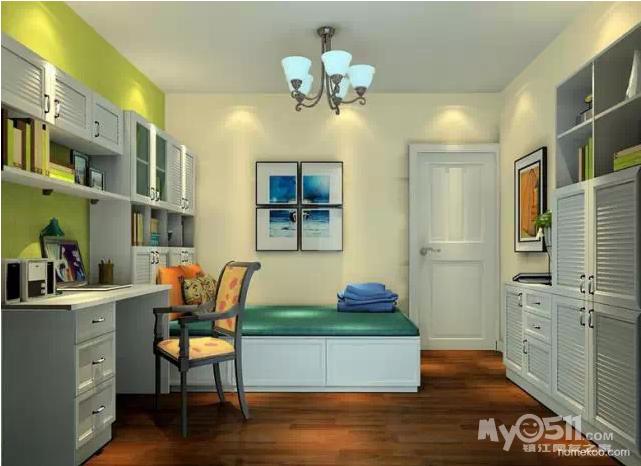榻榻米床的设计实现了书房、休闲室、次卧的一房多用,床身还能储物