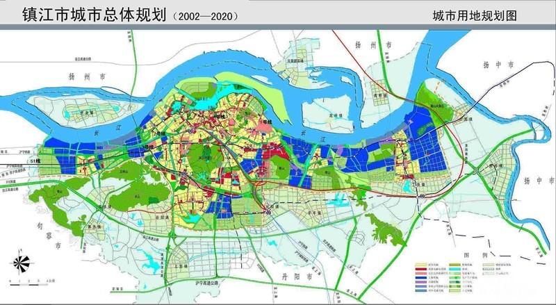 镇江城市空间结构