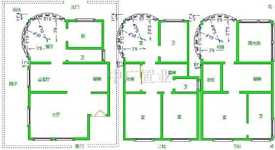 独栋房屋框架结构图