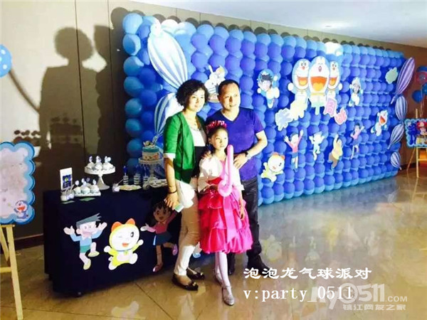 .镇江泡泡龙气球宝宝百日百露周岁生日派对策划布置商场开业气球美陈.