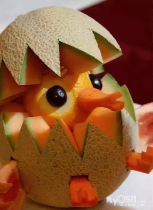 创意 各种水果动物造型萌到爆,想要么