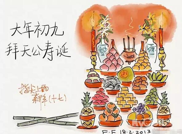 春节食物手绘素材
