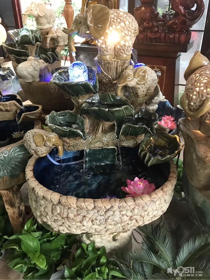 泉韵阁树脂假山流水喷泉客厅摆件装饰品室内风水鱼池工艺水景