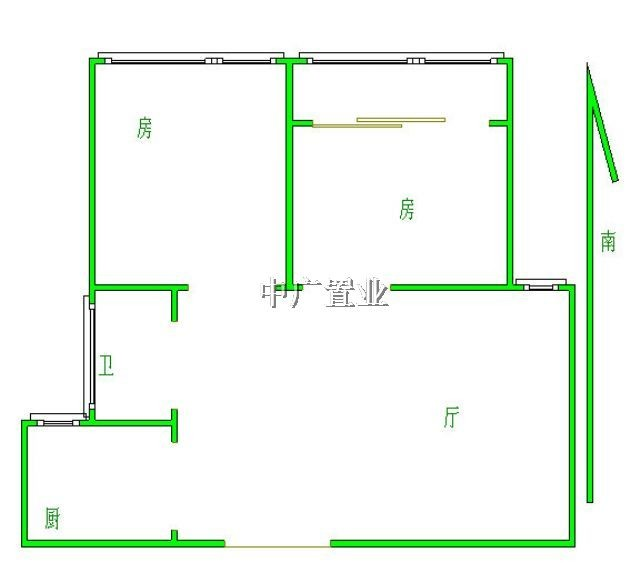 房屋户型:  二室一厅 房屋类型: 高层住宅 房屋性质: 商品房 建筑结构