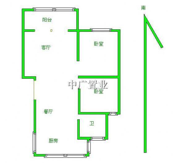 96平方米设计图3房1
